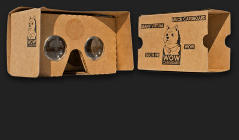 WOW Cardboard viewer pair